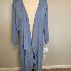 NWT Dusty Blue Kimono